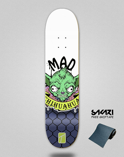 Txin Mad Chihuahua yellow skate deck