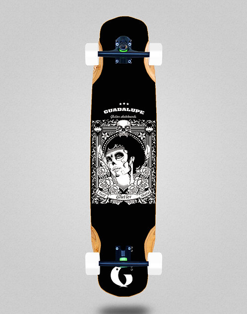 Glutier Guadalupe black longboard complete 38x8.45
