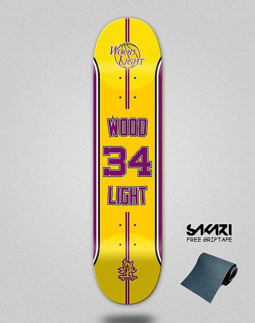 Wood light skate deck Basket 34