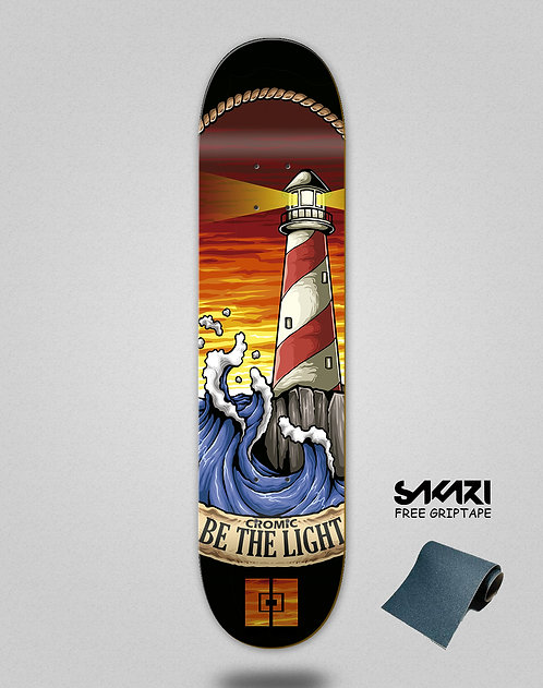 Cromic Be the light skate deck