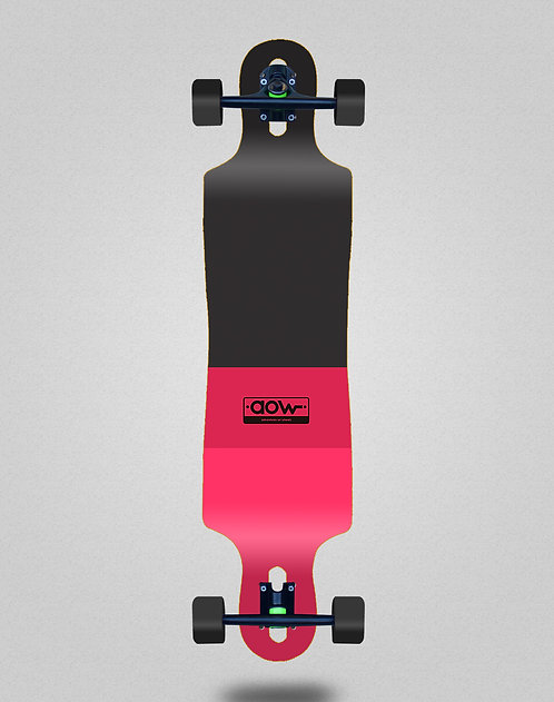 Aow Fastskate classic red longboard complete 40x9