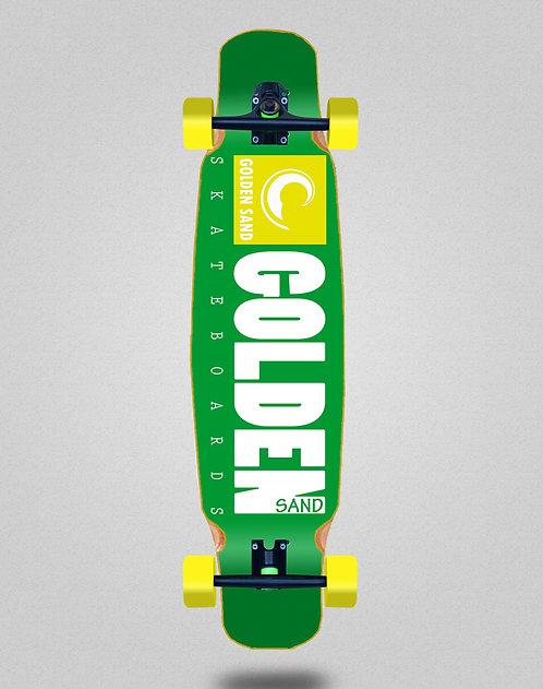 Golden Sand Icon green white longboard dance complete 46x9