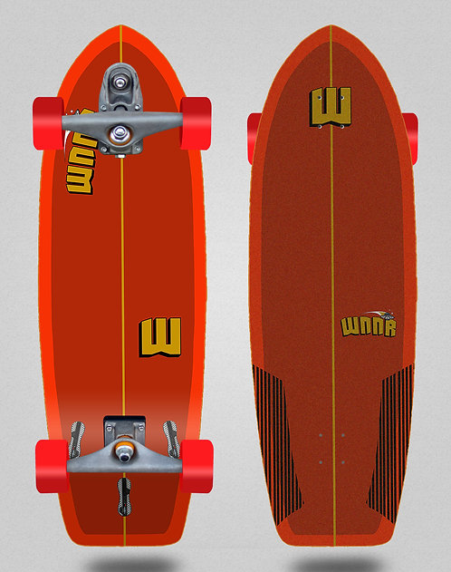 Wnnr surfskate T12 trucks Tulum red 31