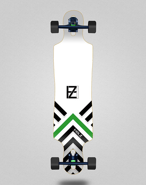 Holz Gram BW Akira white longboard complete 40x9