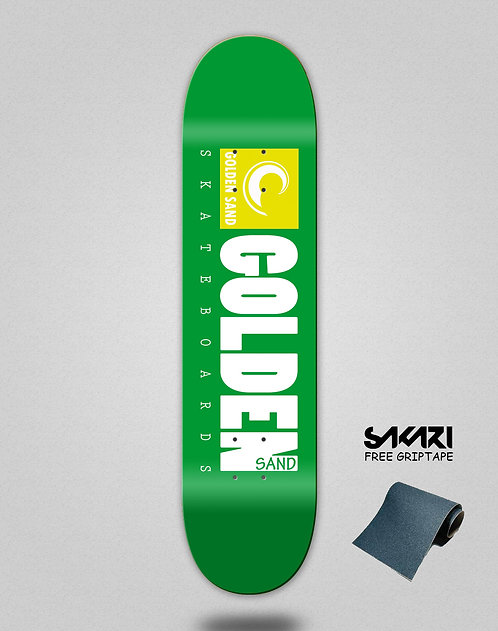 Golden Sand icon green white skate deck
