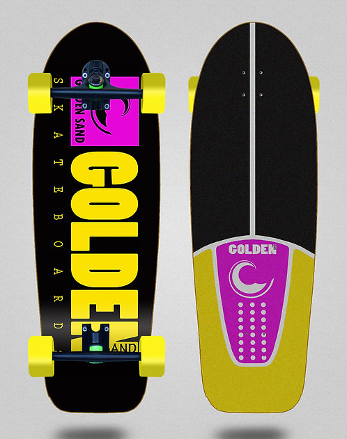 Golden Sand cruiser Icon black pink yellow 30.5