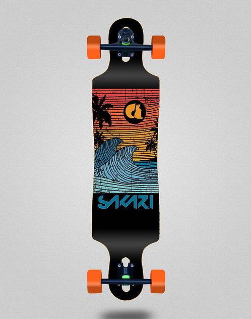 Sakari Cali dream orange longboard complete 40x9