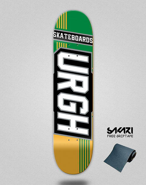 Urgh skate deck Duo tone yellow green
