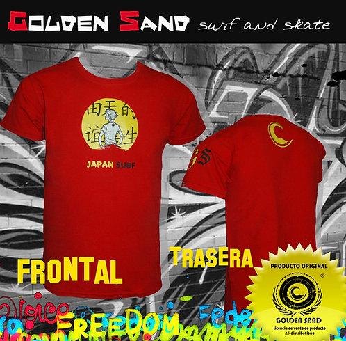 Golden Sand. T-shirt Japan surfing