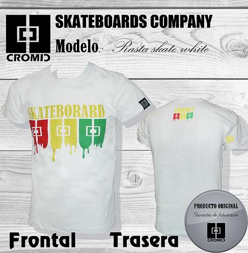 Camiseta surf skate Cromic. T-shirt Skateborard white