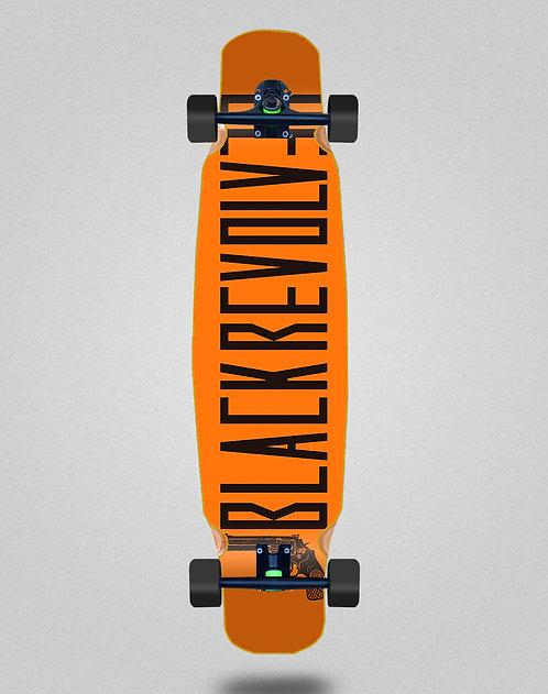 Black Revolver Color orange longboard bamboo dance complete 46x9