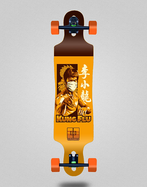 Cromic Covid Kung flu longboard complete 40x9
