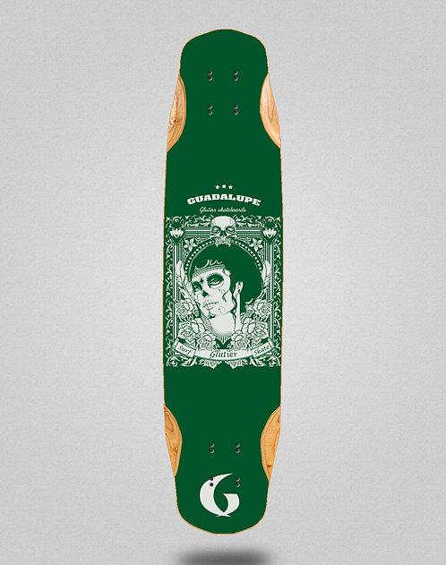 Glutier Guadalupe green longboard deck 38x8.45