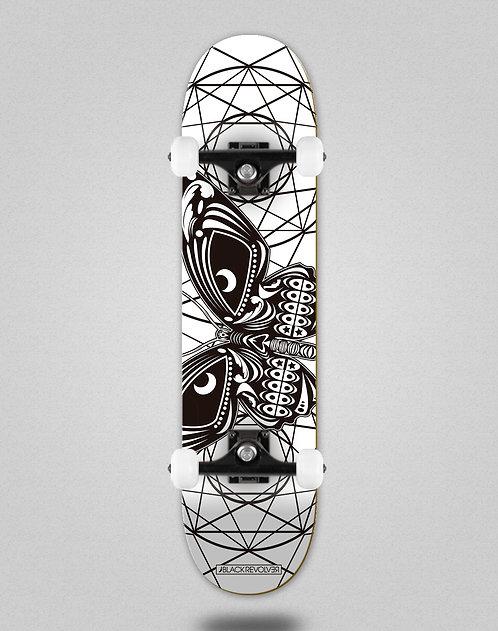 Black Revolver Insecta collective mariposa white skate complete