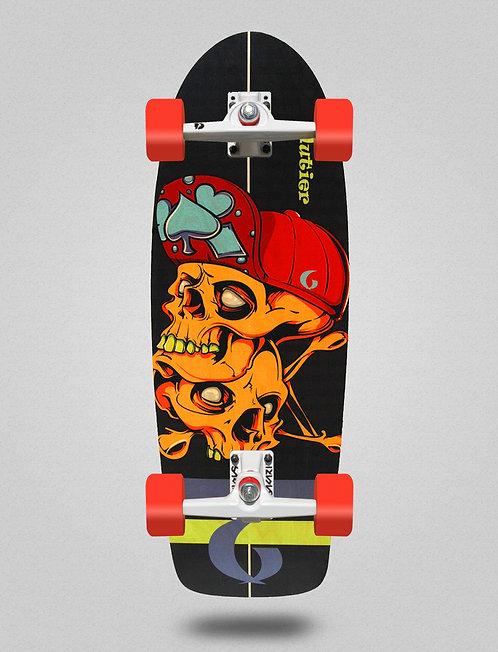 Glutier surfskate - Hip skulls 30,5