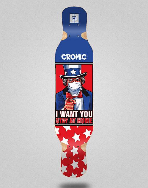 Cromic Covid I want you longboard deck 46x10
