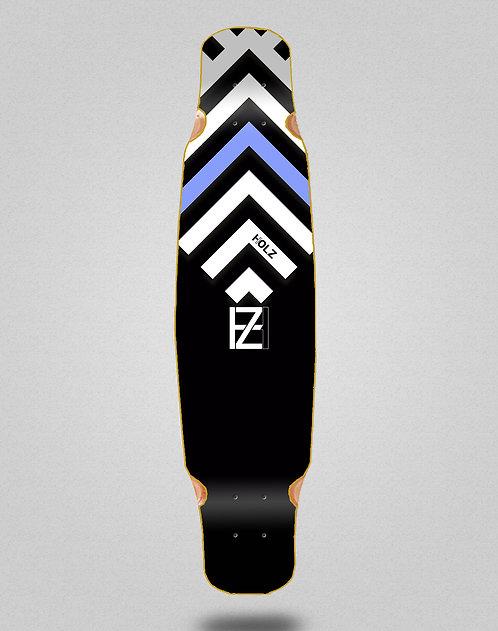 Holz Gram BW Akira black longboard deck bamboo dance 46x9