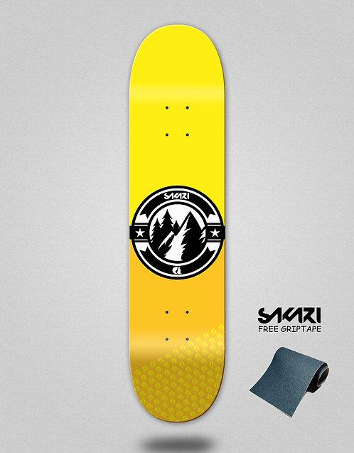 Sakari Downhill juice yellow skate deck