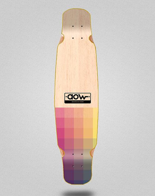 Aow Pixels longboard deck bamboo dance 46x9