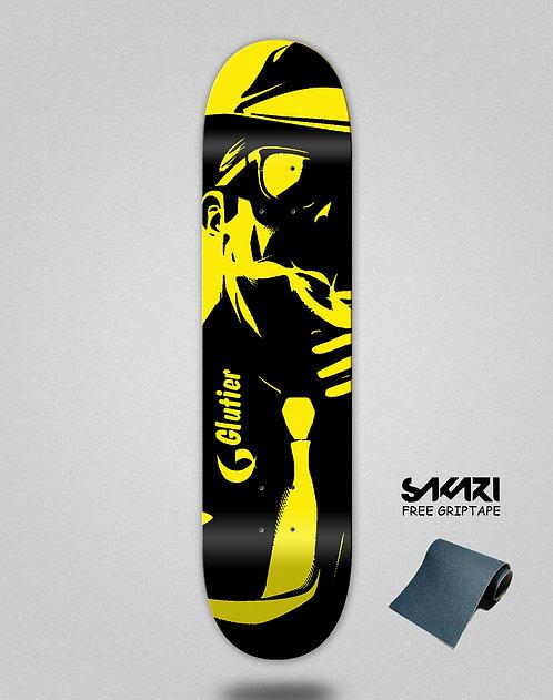 Glutier Mafia yellow skate deck
