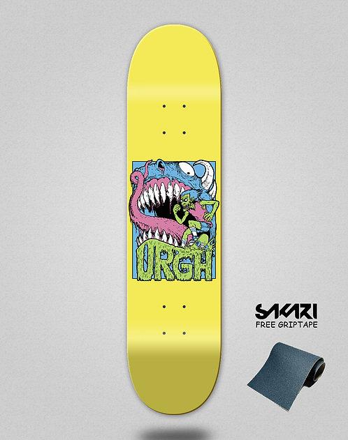Urgh skate deck Monster yellow