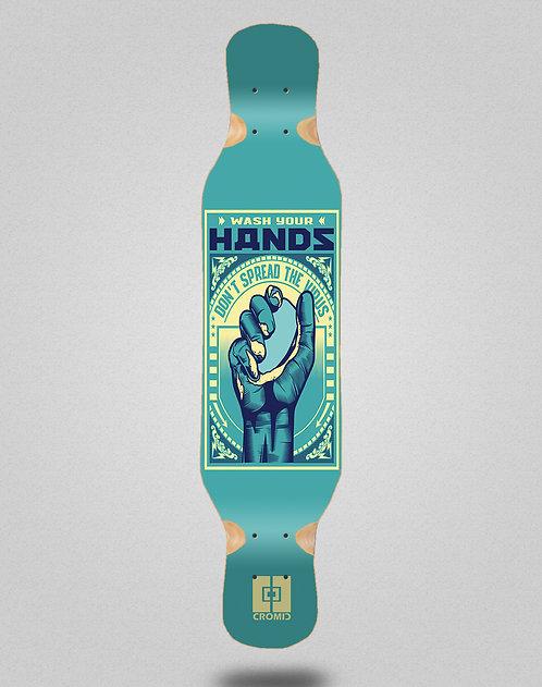 Cromic Covid Wash your hands longboard deck 46x10