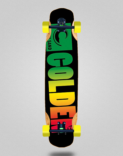 Golden Sand Degraded rasta longboard complete 38x8.45