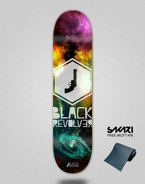 Black Revolver skate deck Space hexa