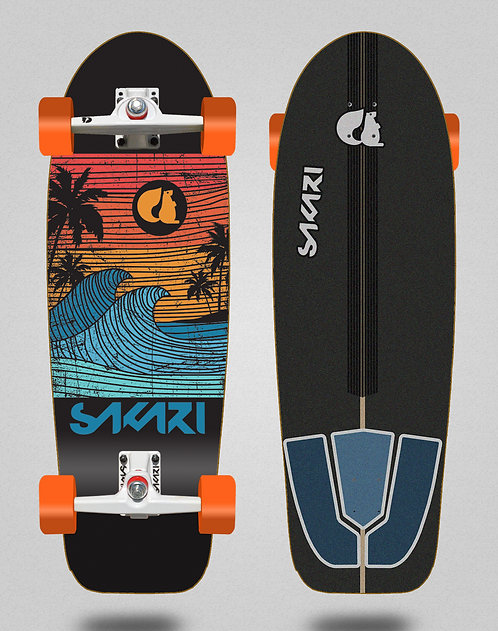 Sakari surfskate - Cali dream orange 30,5