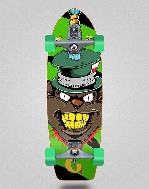 Glutier surfskate : Gr cat green 29 T12 Trucks
