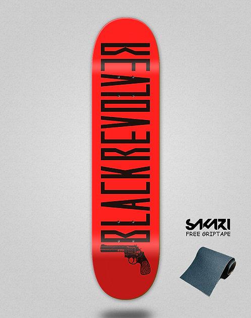 Black Revolver skate deck Color red black