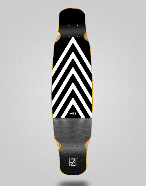 Holz dark gram longboard deck bamboo dance 46x9