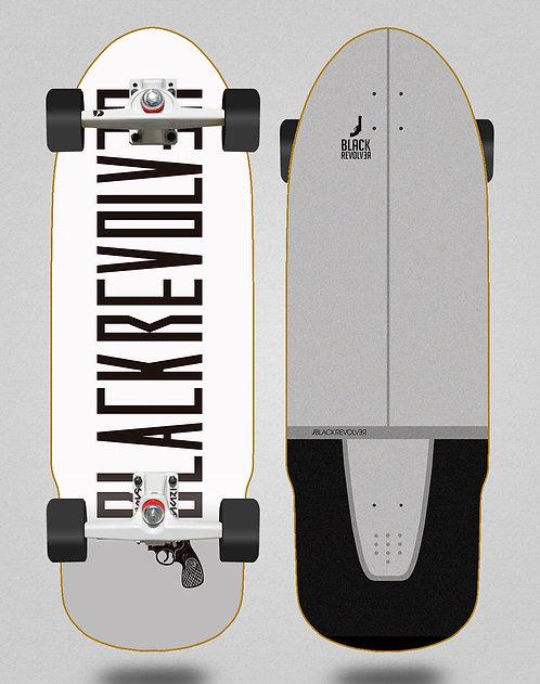 Black Revolver surfskate SGI trucks Color white 32