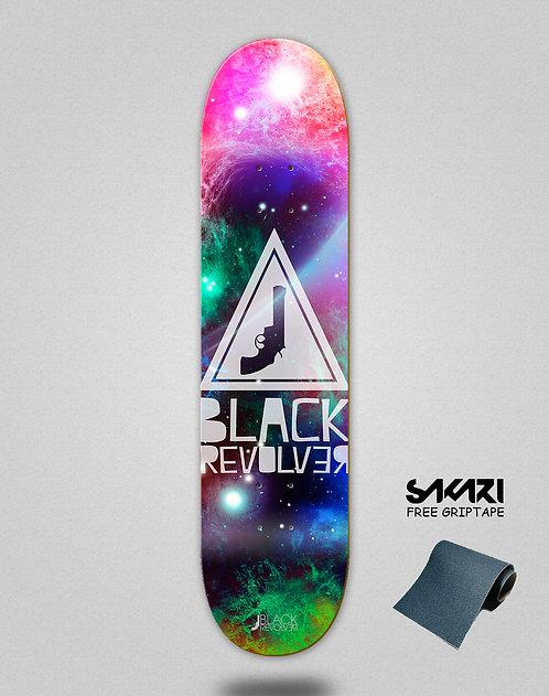 Black Revolver skate deck Space triangle