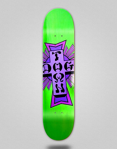 Dogtown street cross logo deck 7.75x31.25 green purple