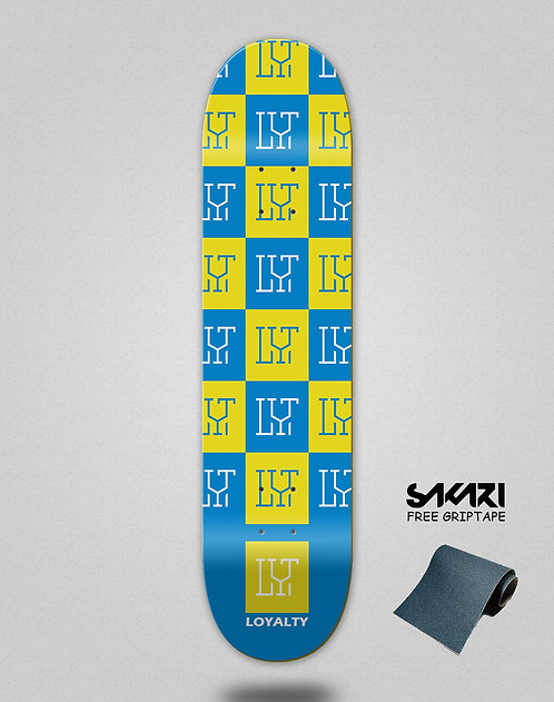 Loyalty deck Squares blue yellow