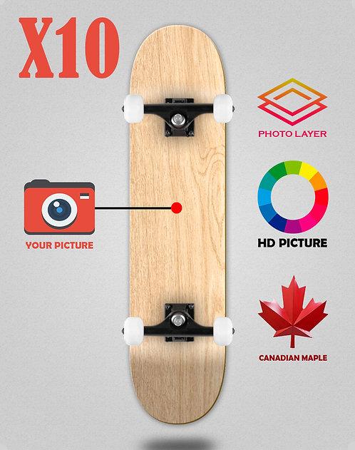 Personalizador skateboards completes X10 unidades