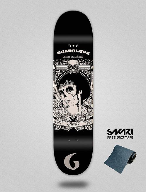 Glutier Guadalupe black skate deck