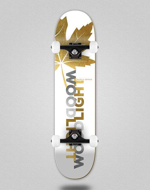 Wood light maple gold Ortiz skate complete