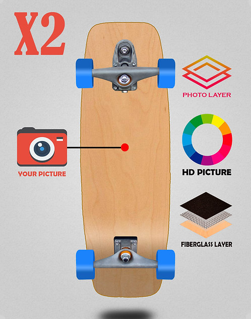 Personalizador surfskate complete t12 27.25 X2 unidades