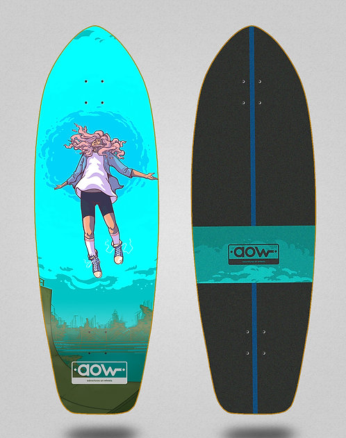 Aow surfskate deck Floating blue 31