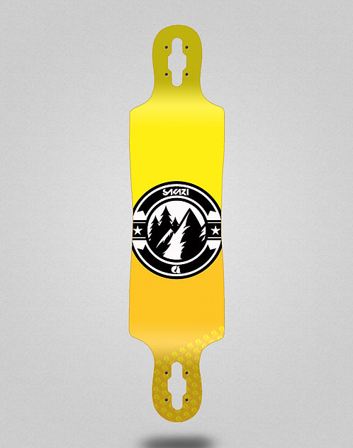 Sakari Downhill juice yellow longboard deck 40x9