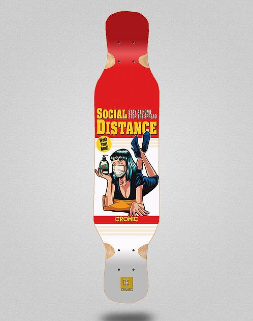 Cromic Covid Social distance longboard deck 46x10