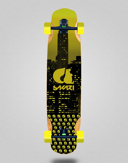 Sakari City yellow longboard complete 38x8.45