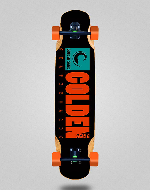 Golden Sand icon turquoise longboard complete 38x8.45