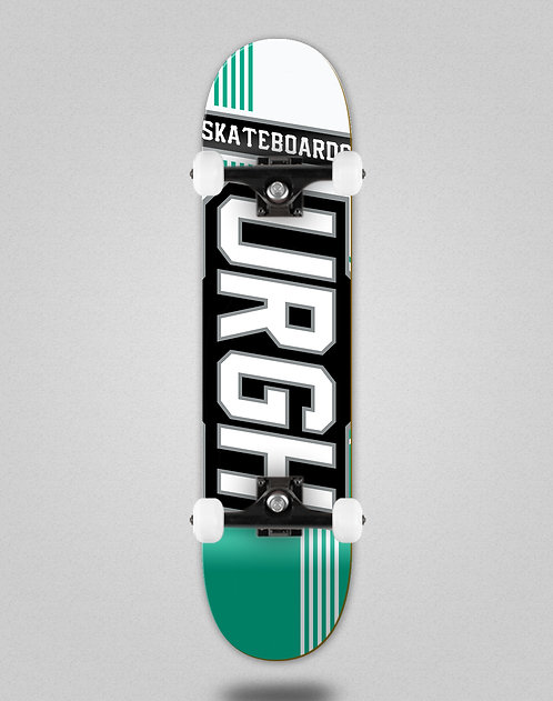Urgh Duo tone white turquoise skate complete