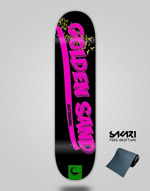 Golden Sand Yank black pink green skate deck