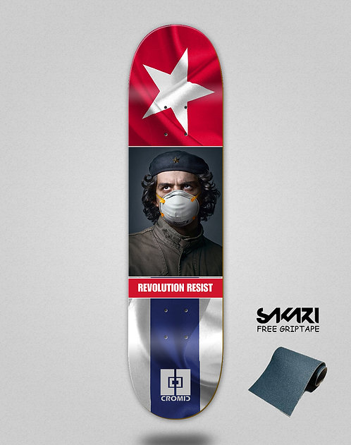 Cromic Covid Revolution resist skate deck