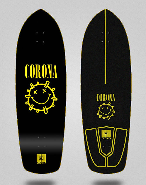 Cromic surfskate deck - Covid Corona 34