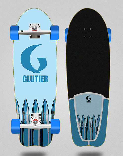 Glutier surfskate - Bullets 31 fish SGI trucks